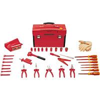 Наборы инструментов VDE и чемоданы для них