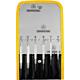 Bernstein 4-379. Набор часовых металлических отвёрток в пластиковом кейсе (6 отверток - плоские 1,0, 1,5, 2,0, 2,5, 3,0, 3,5 мм)